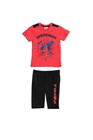 Spider-Man Spiderman Lisanslı Kırmızı Erkek Çocuk Bermuda Takımı Kırmızı